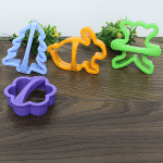 Цветни форми за курабии,сладки,бисквити 6бр