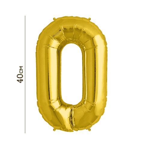 Балон цифра 0 Злато 40см.