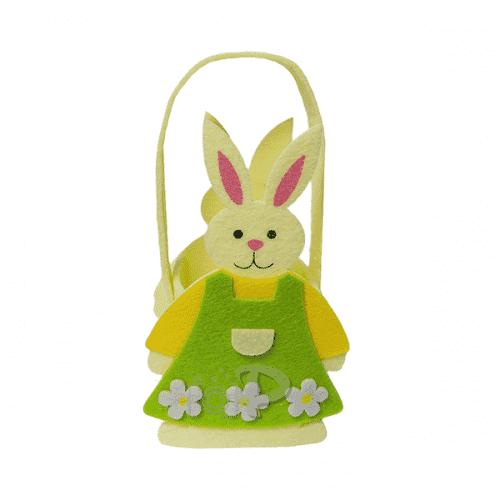 Великденска кошничка във формата на заек