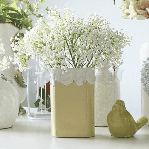 Декоративен букет бяла гипсофила/изкуствени цветя за декорация