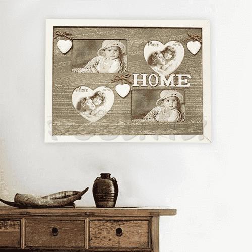 """Рамка за стена с четири снимки """"Home"""""""
