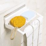 Мултифункционална поставка със закачалка за баня