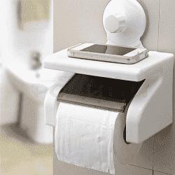 Практична поставка за тоалетна хартия с подложка за смартфон