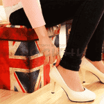 "Ретро табуретка-ракла ""England""/кутия с капак"