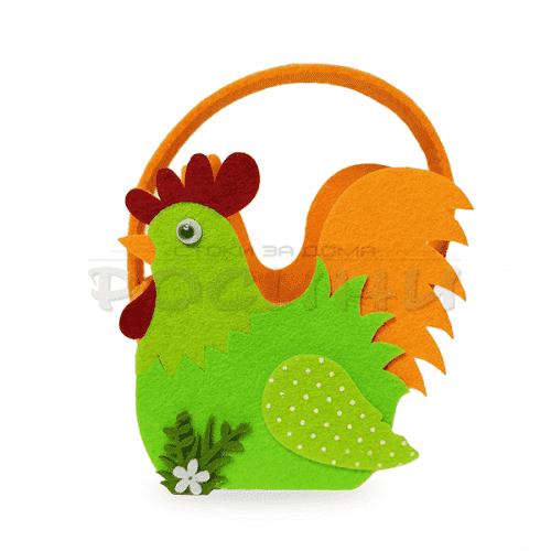 Великденска кошница за яйца във формата на петел