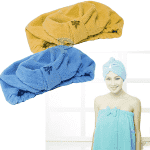 Хавлиена шапка за баня/микрофибърна кърпа за глава