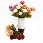 Декоративен букет есенни рози/изкуствени цветя за декорация