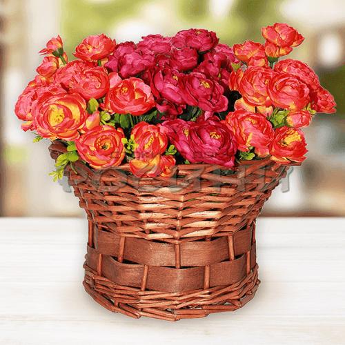 Декоративен букет рози Morsdag/изкуствени цветя за декорация