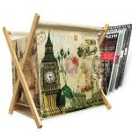 Поставка за списания и вестници 32см/кош за списания