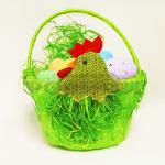 Великднеска,атрактивна кошница за яйца с дръжка
