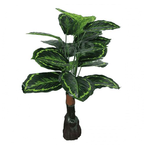 Изкуствено цвете за саксия Дифенбахия