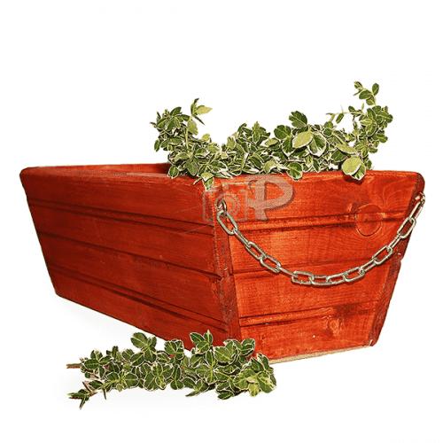Дървен сандък за цветя за закачане 50см./дървена кашпа