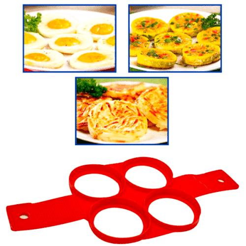 Силиконова форма за яйца и палачинки 4-ка/форма за пържене