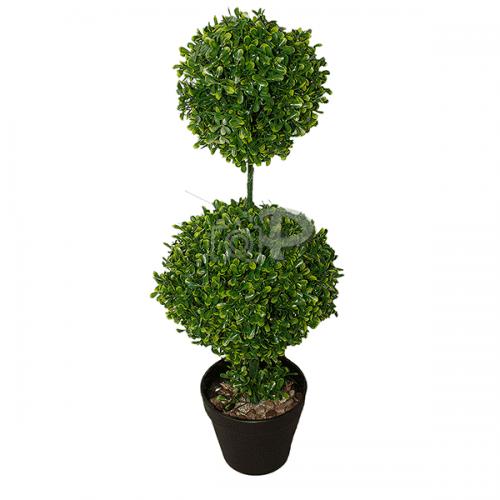 Изкуствено дърво в саксия Бонсай две нива 53см./цветя за декорация