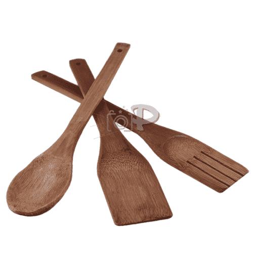 Комплект дървени прибори за готвене 3бр.