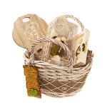 """Подаръчна кошница """"Злато"""" за Осми Март/подаръчен комплект за жената"""