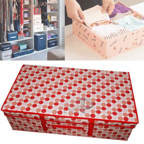 Текстилен куфар-кутия за съхранение на дрехи,играчки 70см.