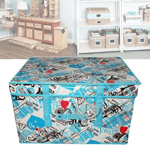 Текстилен куфар-кутия за съхранение на дрехи,играчки 50см.