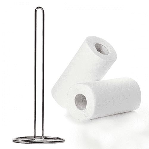 Метална стойка за кухненска хартия/поставка за домакинска хартия
