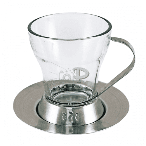 Сребриста, ретро чаша за топли напитки 120мл.