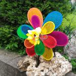 """Въртележка за вятър """"Двойно цвете""""/градинска въртележка"""