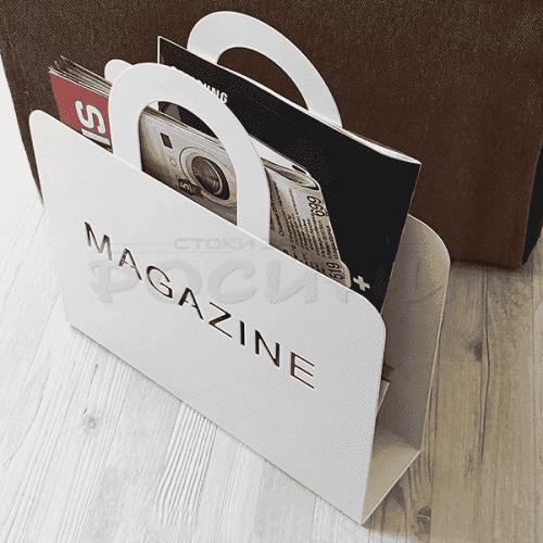 Метална поставка за вестници и списания/кош за списания