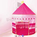 "Детска,розова палатка ""Замък"" 135см"