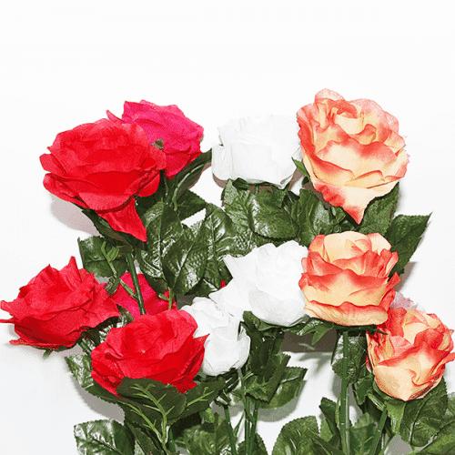 Изкуствен букет рози 70см./изкуствени цветя за декорация