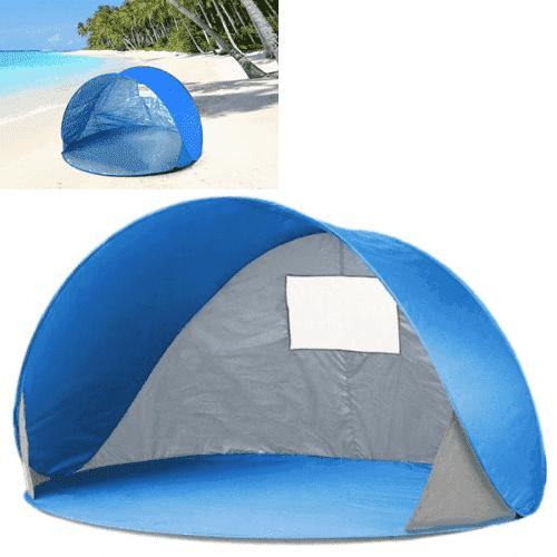 Плажна,синя палатка с чанта/тента за плаж