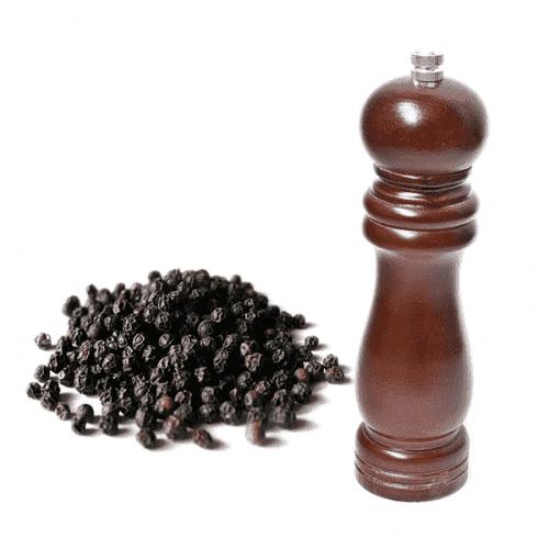 Дървена мелничка за черен пипер