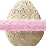Релефна точилка за тесто и фондан със сърца/декорираща точилка