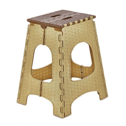 Сгъваема табуретка за дома и градината 44см./пластмасово столче