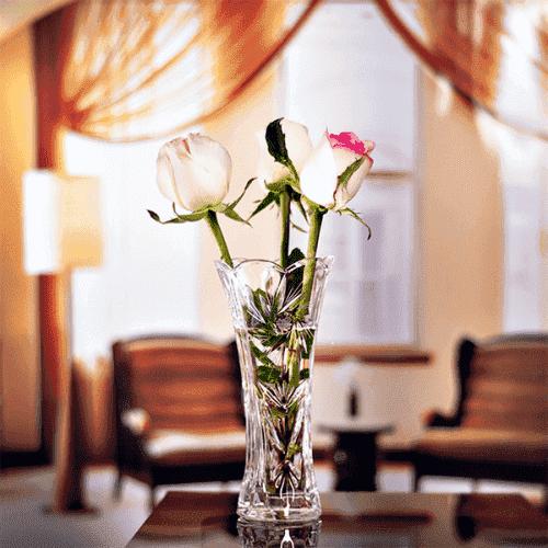 Стъклена ваза 19см. SUNSTAR