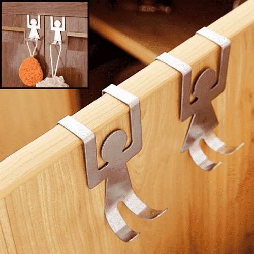 """Метални закачалки за шкаф,врата """"Двойка""""/закачалка за врати"""