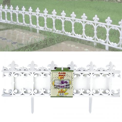 Декоративна бяла ограда за цветя 3,40м.