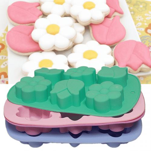 """Силиконова форма за  мъфини цветя/форма за бисквити """"Modern"""""""