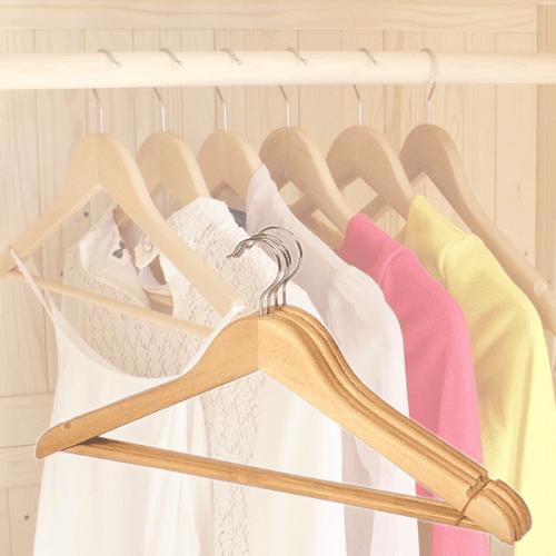 Дървени закачалки за дрехи 3бр./гардеробна закачалка