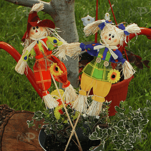 Декоративна фигура Сламчо на клечка