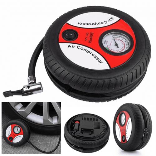 Мини компресор с формата гума