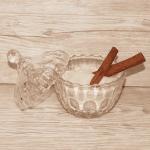 """Стъклена захарница с капак """"Candy""""/луксозна захарничка"""