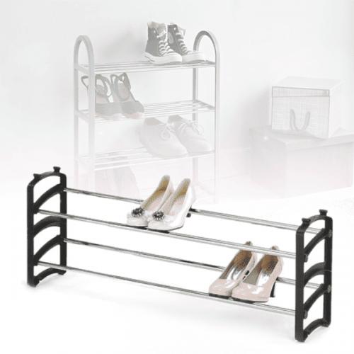 Тръбен стелаж за обувки на две нива