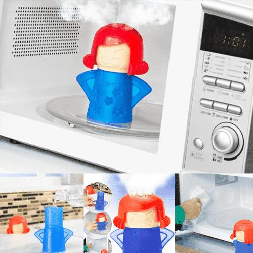 """Иновативен уред за почистване на микровълнова """"Angry Mama"""""""