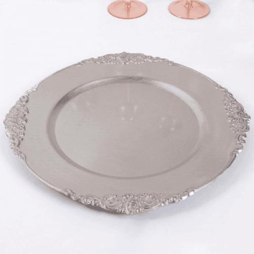 """Бронзово ретро плато """"Antique""""/чиния-поднос за сватба,кръщене"""