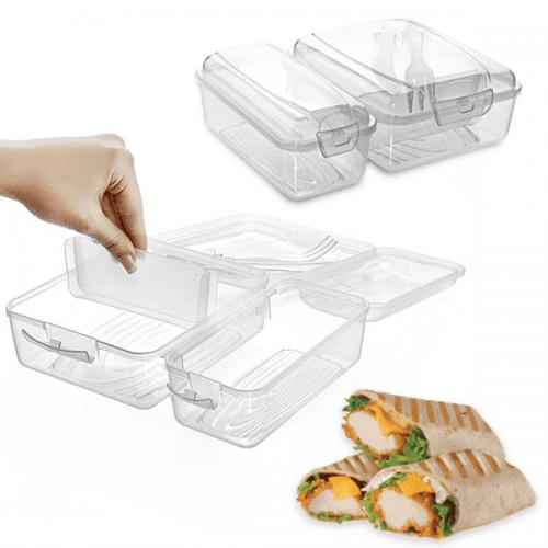 """Двойна кутия за обяд с прибори """"Smart"""""""