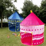 """Детска,синя палатка за игра """"Замък"""" 135см"""