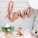 Празничен балон надпис LOVE/фолиеви балони за парти