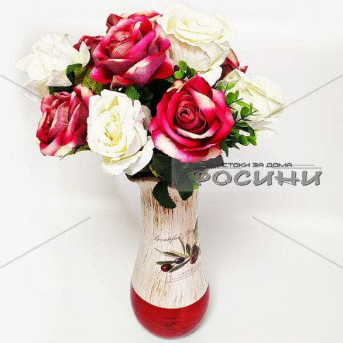 Изкуствена роза от велур