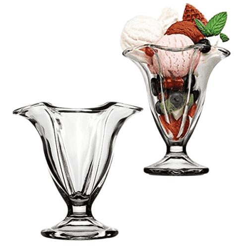 Двойка стъклени чаши за мелба/сладолед  Pasabahce
