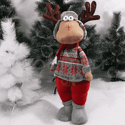 Коледен, плюшен Eлен 62см./плюшена играчка за Коледа