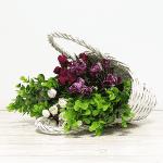 Изкуствен букет Чемшир/цветя за декорации
